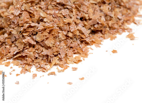 wheat bran isolated on white background