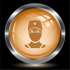 Doctor. Internet button. Vector illustration.