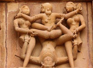 Spiritual sex position sculpture of ancient times