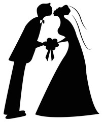 just married couple vector