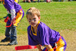 Youth flag football player
