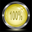 100%. Internet button. Vector illustration.