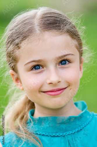 Happy child - portrait of lovely girl