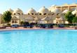 Sunbeds near swimming pool at luxury hotel, Sharm el Sheikh, Egy