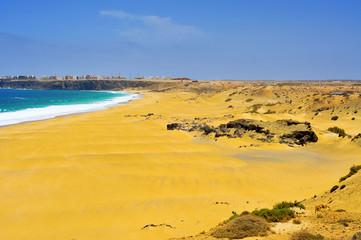 Castillo Beach in El Cotillo, Fuerteventura, Canary Islands, Spa