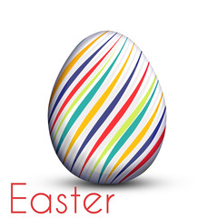 Easter egg painted with color lines