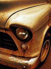dirty retro car