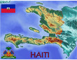 Haiti Caribbean America national emblem map symbol motto