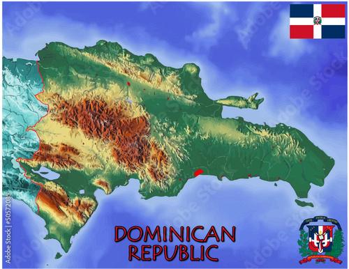 Dominican Republic Caribbean America national emblem map symbol