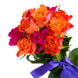 bouquet of  pink and orange roses