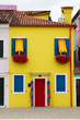 Typical colourful house in Burano, Italy.