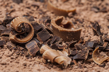 chocolate background close up