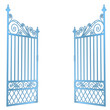 isolated steel decorated baroque open gate vector - 50573801
