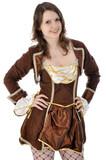 Junge Frau im Fasching-Kostüm
