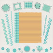 blue scrapbook kit
