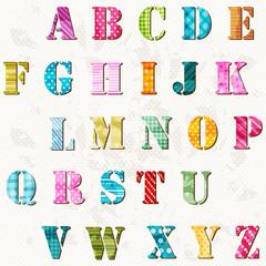 textured alphabet