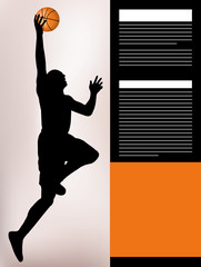 poster background basketball