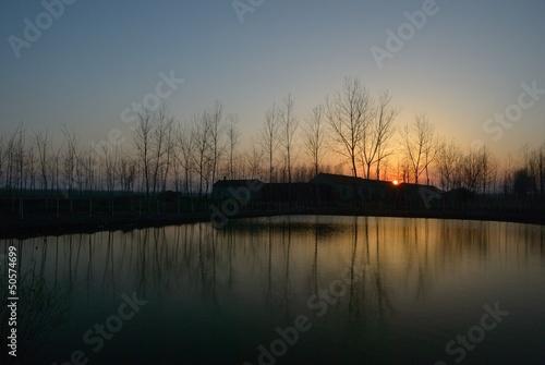 Fototapeten,see,sonnenuntergänge,sunrise,glatt