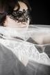 Hiding bride, Wedding decoration, Fine-art portrait of elegant g