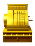 golden cash register