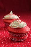 Two red velvet cupcake