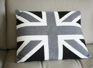 coussin déco, drapeau anglais en tissu