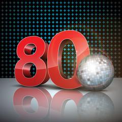 année 80 3d blue