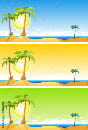 Summer Tropical Beach Set