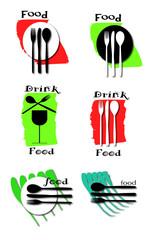 loghi vettoriali inerenti alla ristorazione