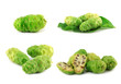 Noni fruits on white isolated background