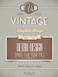 Vintage retro page or cover template