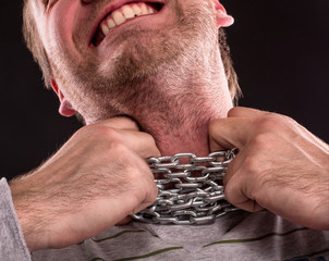 Chain around neck