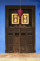 Close-up of Chinese doorway