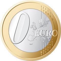 Zero Euro Coin vector