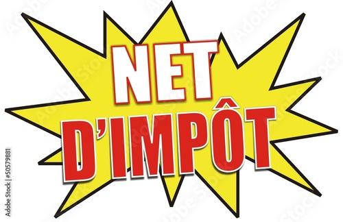 étiquette net d'impôt