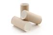 Drei leere Toilettenpapierrollen