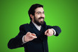 success business man pointing