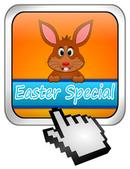 Button Easter Special with easter bunny with cursor