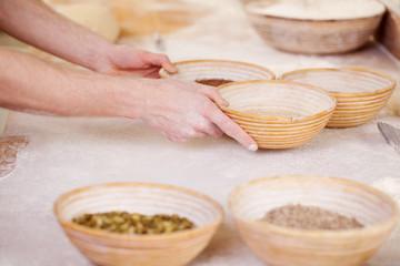 zutaten in der bäckerei