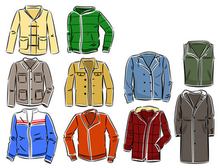 Set of men's jackets