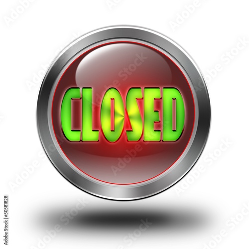 Closed glossy icon
