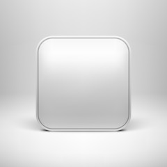 Technology White Blank App Icon Template
