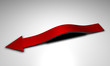 Freccia rossa arcuata