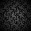Black vector background Floral Pattern