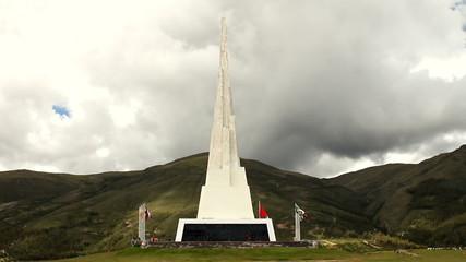 Obelisk in Quinua, Peru