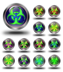 Biohazard glossy icons, crazy colors
