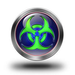 Biohazard glossy icon