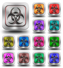 Biohazard aluminum glossy icons, crazy colors