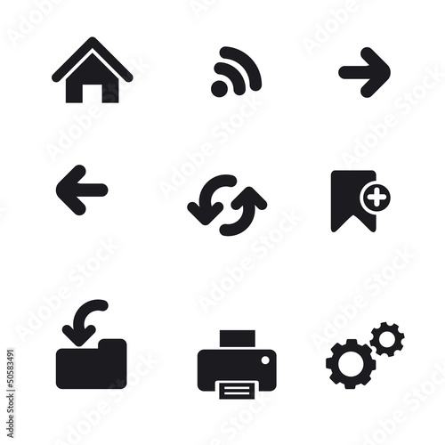 Web navigation icon set