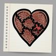 Broken heart cartoon